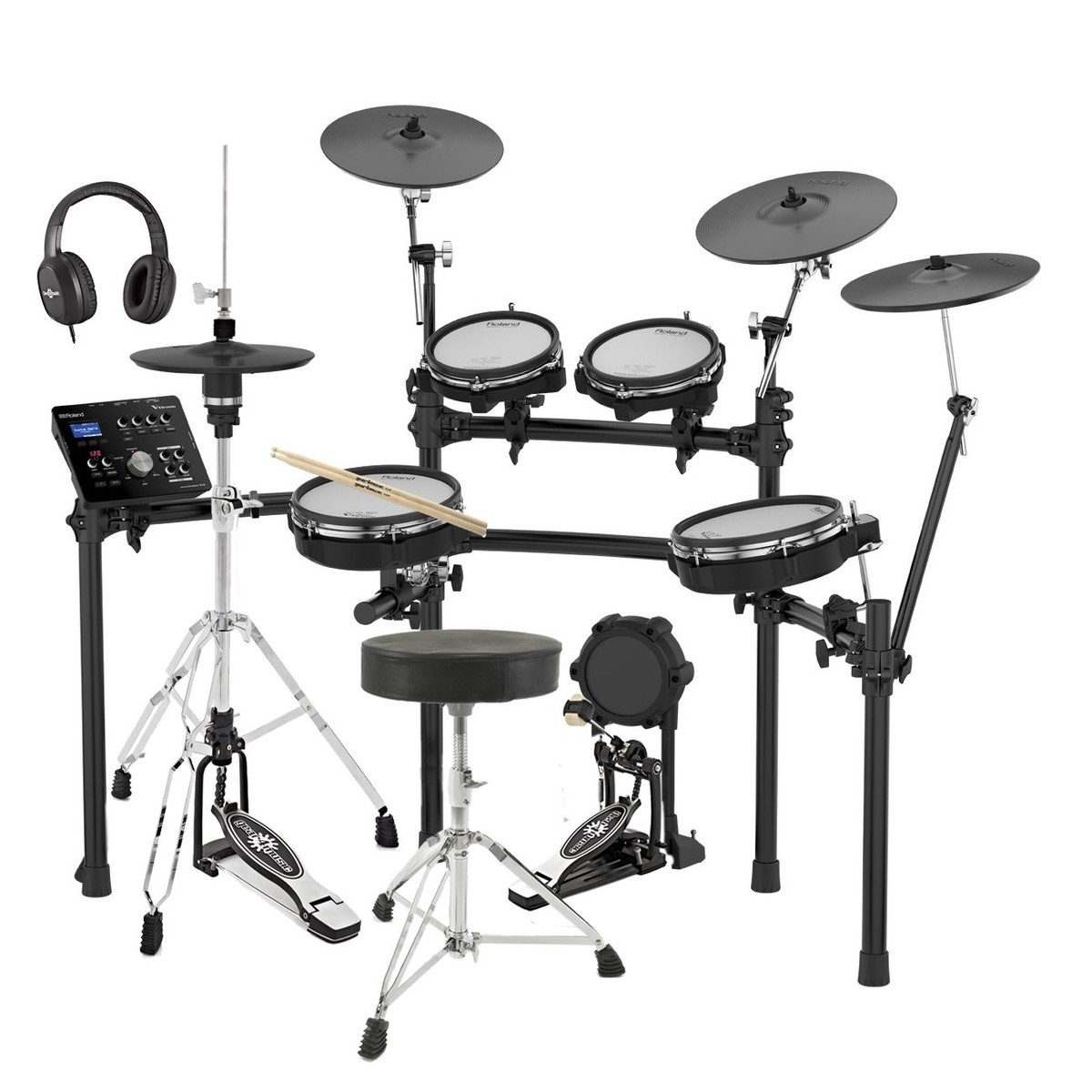 Roland Td 25kv V Drums Electronic Drum Kit With Accessory Pack At Mains Trigger Musical Door Bell Circuit Main Image Loading Zoom