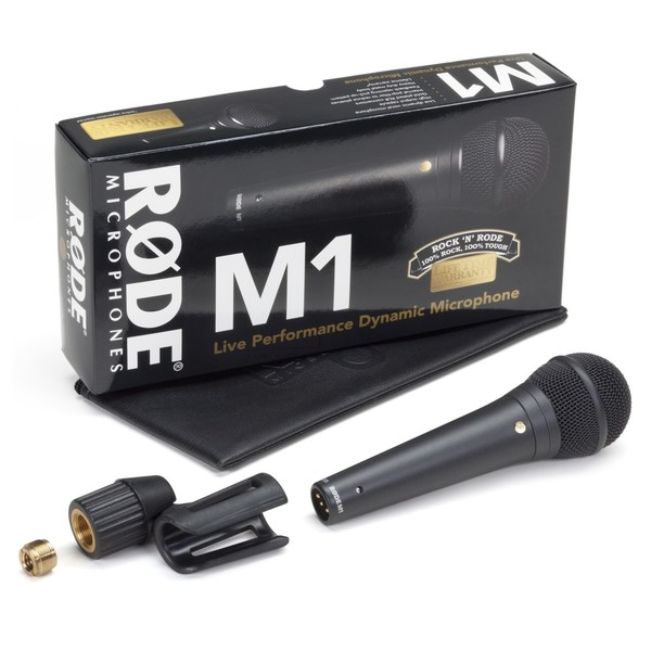 Rode M1 Dynamic Microphone - Box and Accessories