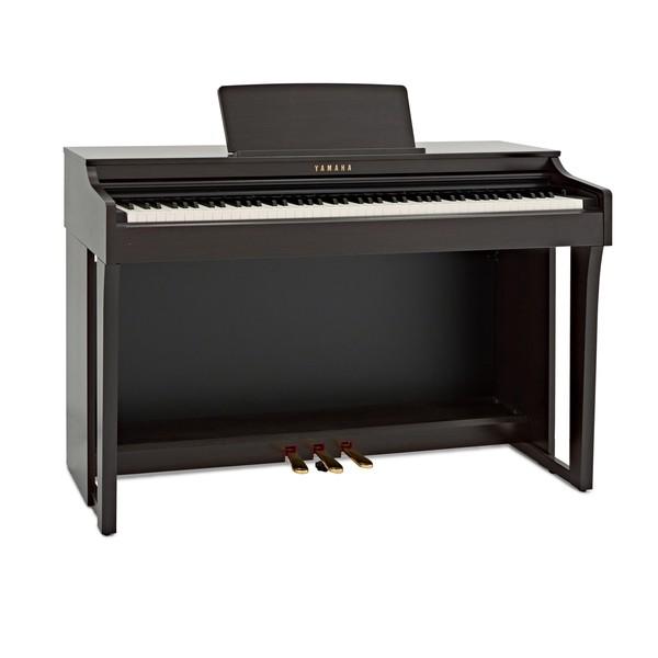 Yamaha CLP 625 Digital Piano, Rosewood angle
