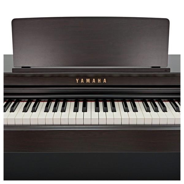 Yamaha CLP 625 Digital Piano, Rosewood front close