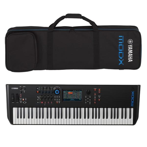 Yamaha MODX7 Synthesizer Keyboard with Soft Case - Full Bundle