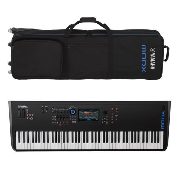 Yamaha MODX8 Synthesizer Keyboard with Soft Case - Full Bundle