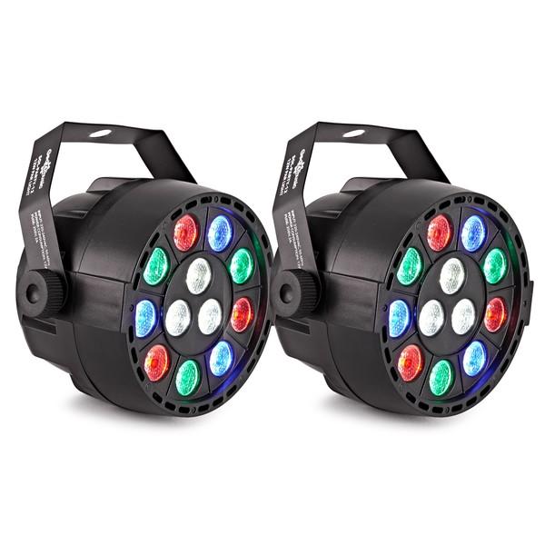Sol 12W RGBW Mini Par Party Lights by Gear4music, Pair
