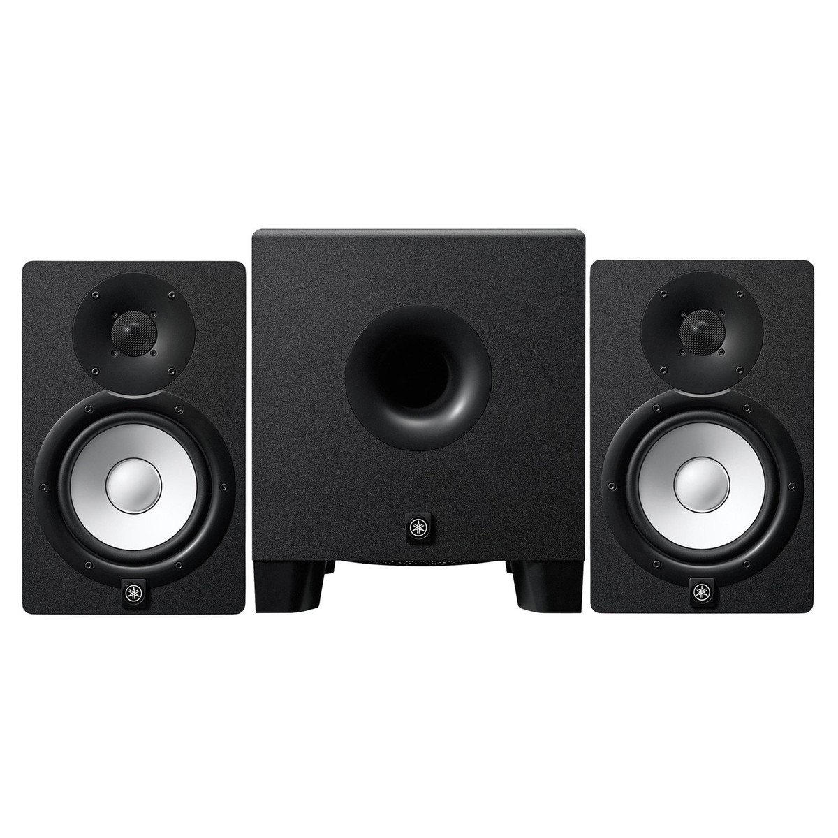 yamaha hs7 active studio monitors with hs8 powered. Black Bedroom Furniture Sets. Home Design Ideas