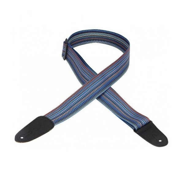 """Levy's 2"""" Soft-Hand Polypropylene Guitar Strap, Multi Coloured - Front"""
