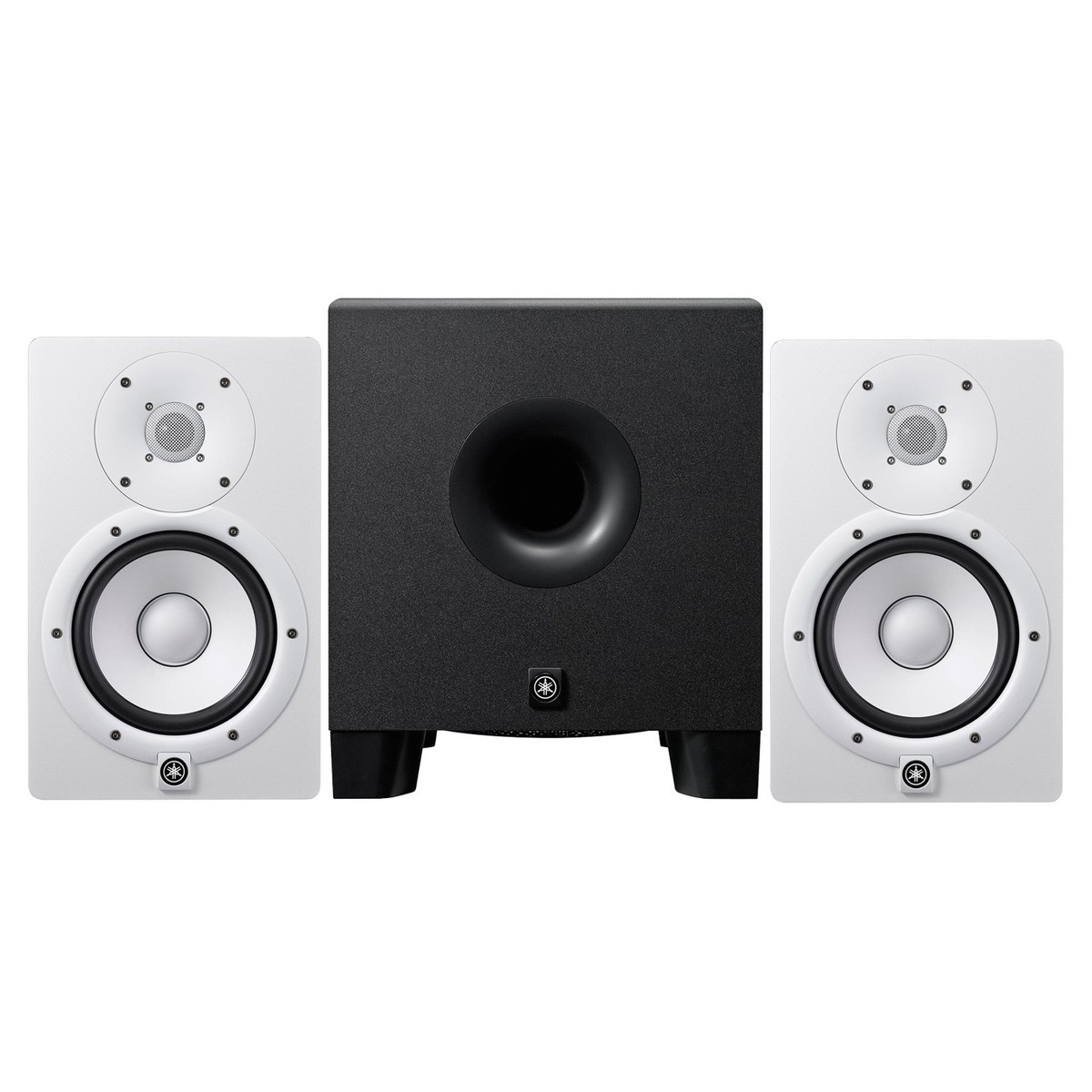 yamaha hs7 active studio monitors white with hs8 powered subwoofer at gear4music. Black Bedroom Furniture Sets. Home Design Ideas
