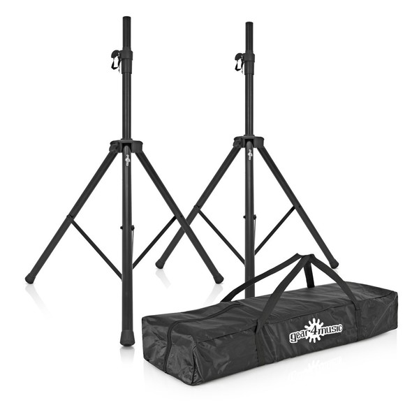 PA Speaker Stands (Pair) With Carry Bag, Full Package