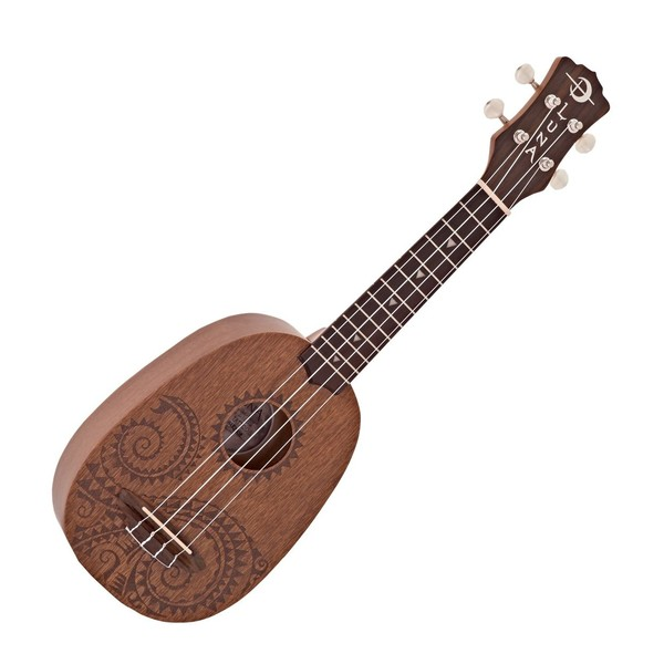 Luna Ukulele Tattoo Mahogany Pineapple Pack