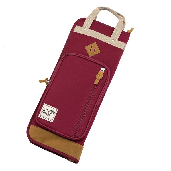 Tama PowerPad Vintage Deluxe Stick Bag (Wine Red) - Main Image