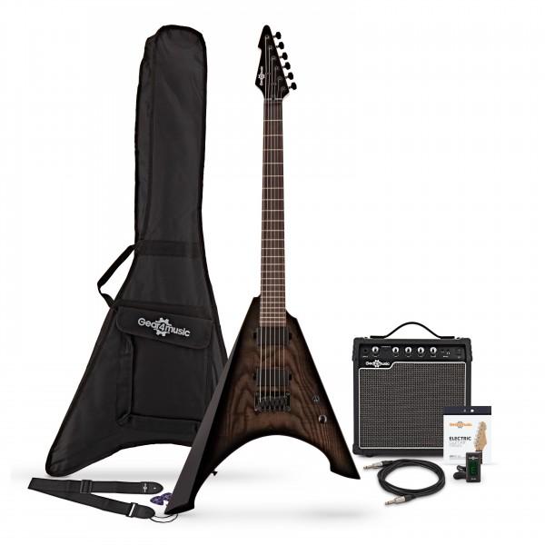 Harlem V Electric Guitar + Complete Pack, Black