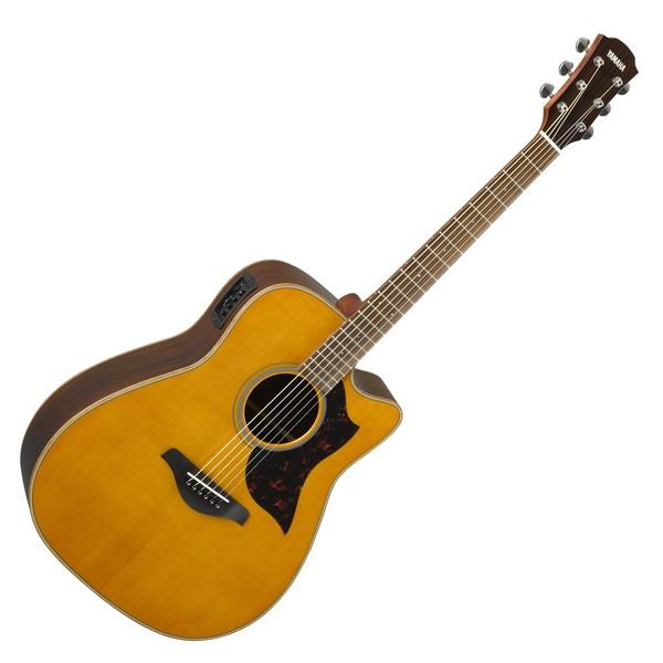 Yamaha A1R Rosewood Electro Acoustic Guitar, Vintage Natural main