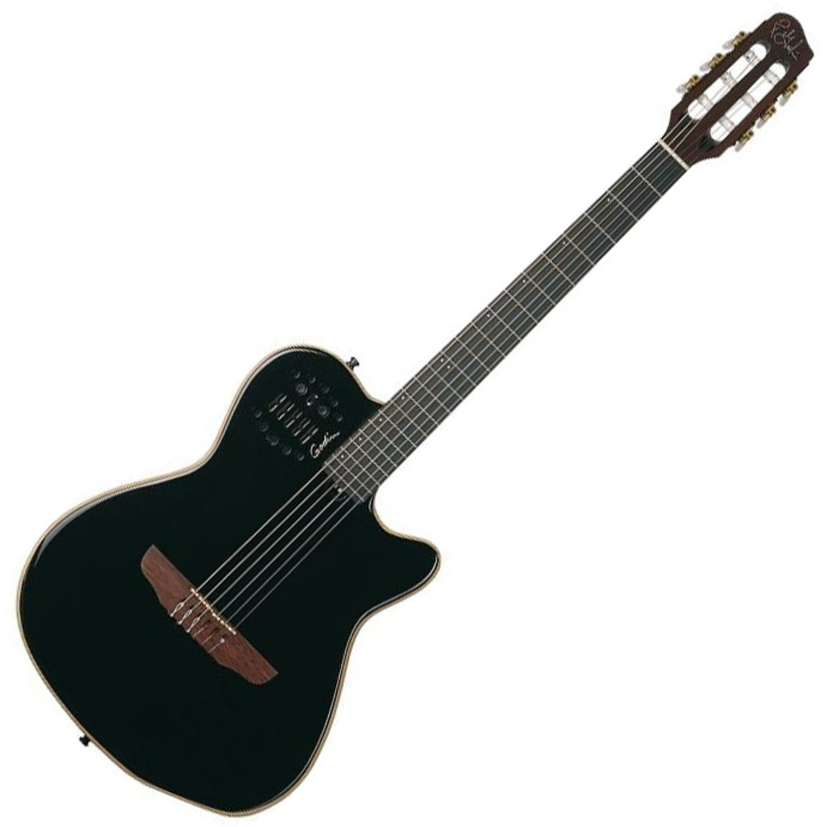 godin acs sa nylon acoustic guitar with synth access black b stock at gear4music. Black Bedroom Furniture Sets. Home Design Ideas