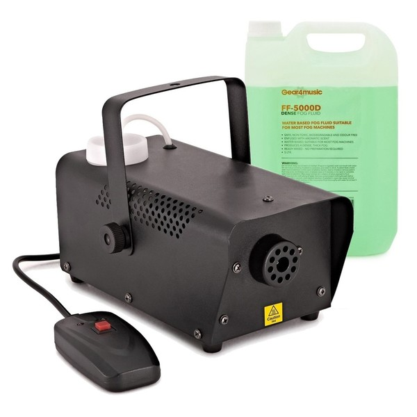 400W Fog Machine + Fog Fluid by Gear4music