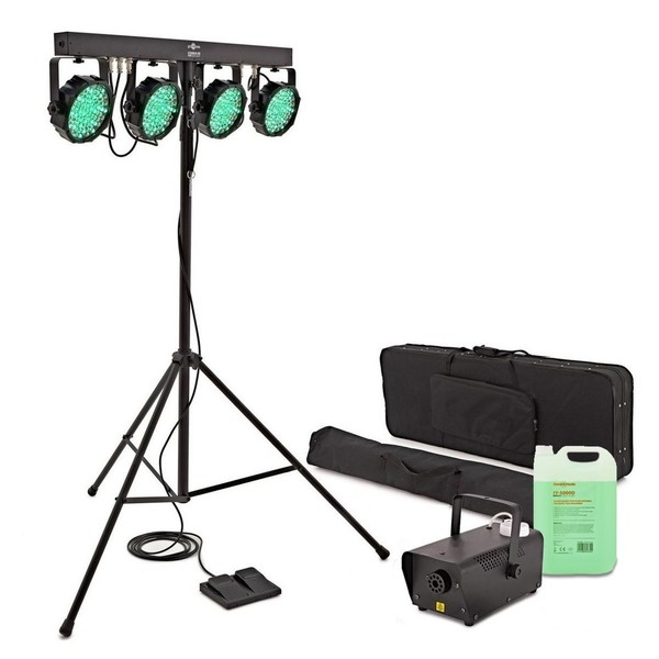 Cosmos 90W Fog and Stage Light Package by Gear4music