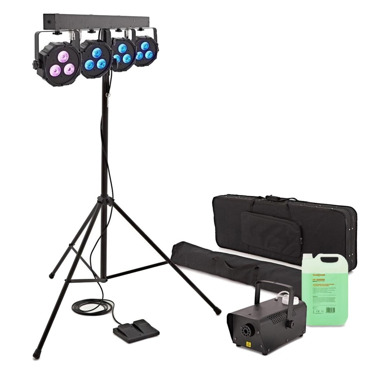 Cosmos 108W Fog And Stage Light Package by Gear4music