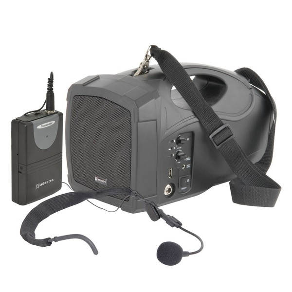 Adastra H25 Handheld PA with Headset Microphone, Full System