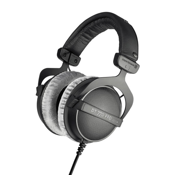 beyerdynamic DT 770 Pro Headphones with 99dB Limiter, 250 Ohm, Front Angled