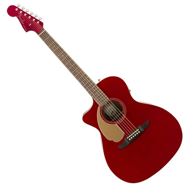 Fender Newporter Player WN Left Handed, Candy Apple Red - Main