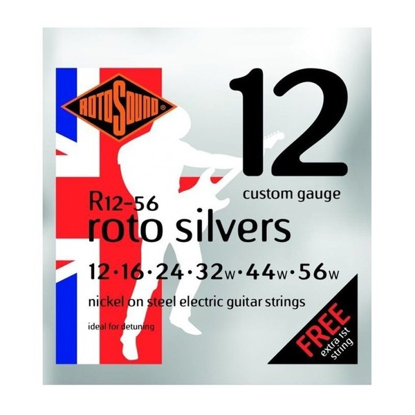 Rotosound R12-56-F Electric Guitar Strings, 12-56 Front View