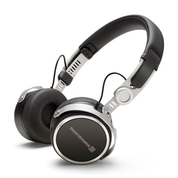 beyerdynamic Aventho Wireless Tesla Bluetooth Headphones, Black, Front Angled Main Image