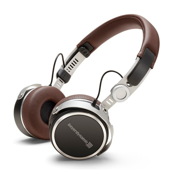 beyerdynamic Aventho Wireless Tesla Bluetooth Headphones, Brown, Front Angled Main