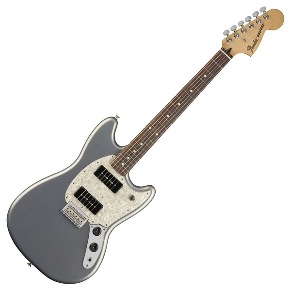 fender mustang 90 electric guitar pau ferro silver b stock at gear4music. Black Bedroom Furniture Sets. Home Design Ideas