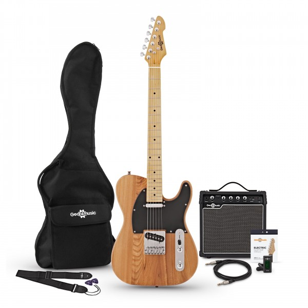 Knoxville Electric Guitar + Amp Pack, Natural