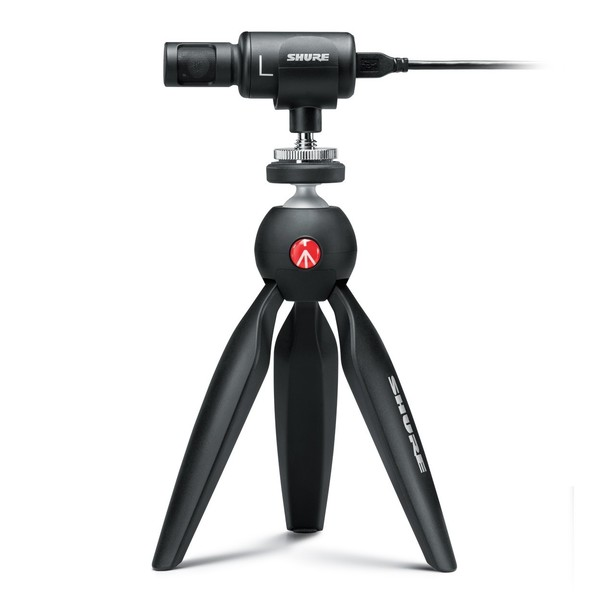 Shure Motiv MV88+ Video Kit, Mic on Tripod