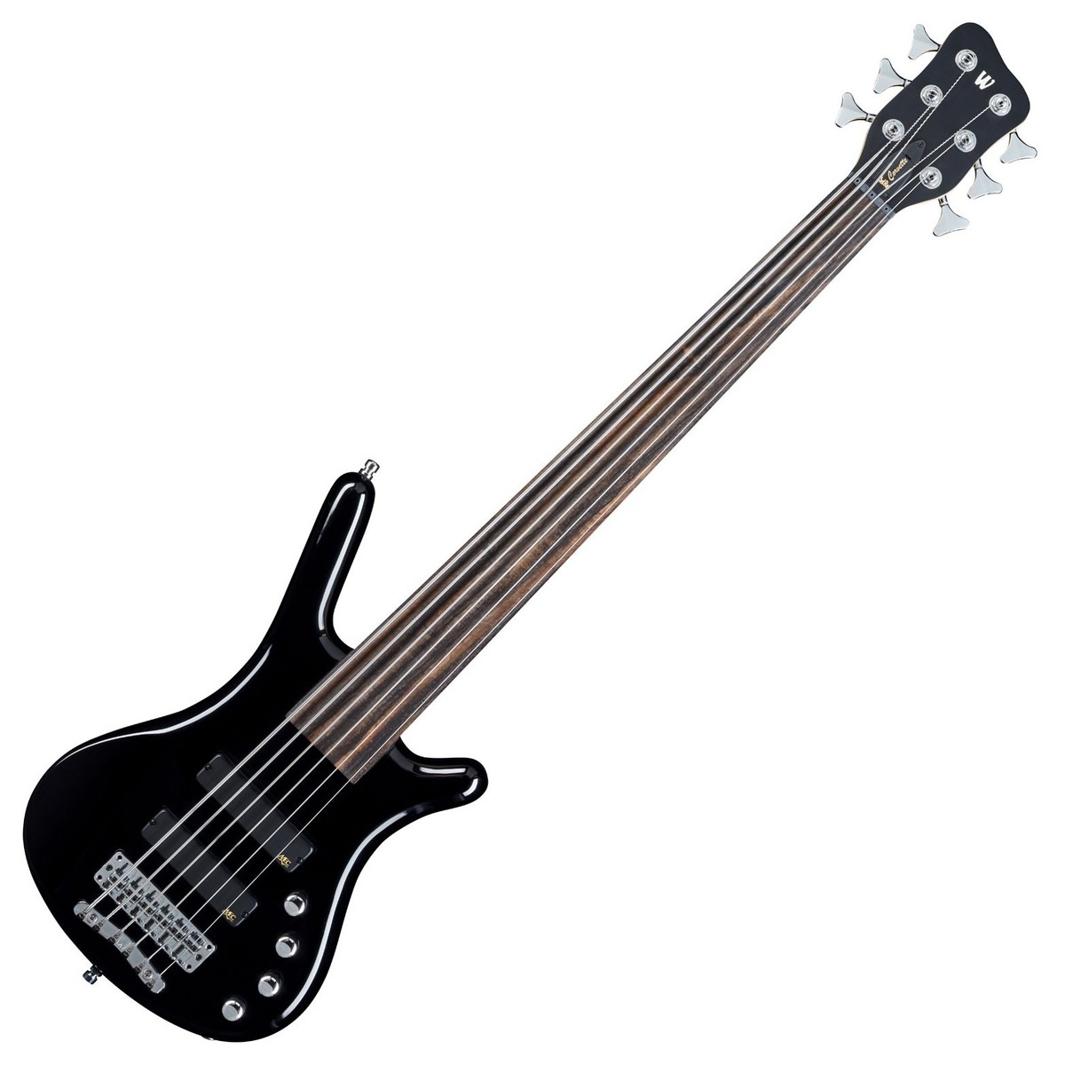32af5808cd Warwick Rockbass Corvette Basic 6-String Bass, Fretless, Black at Gear4music