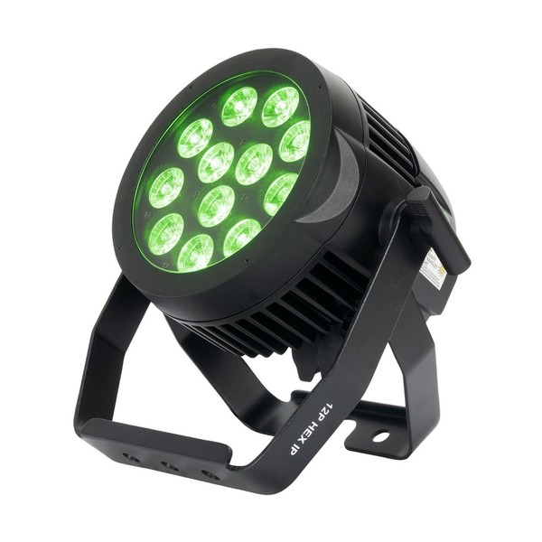 ADJ 12P HEX IP Waterproof LED Par Can, Front Angled