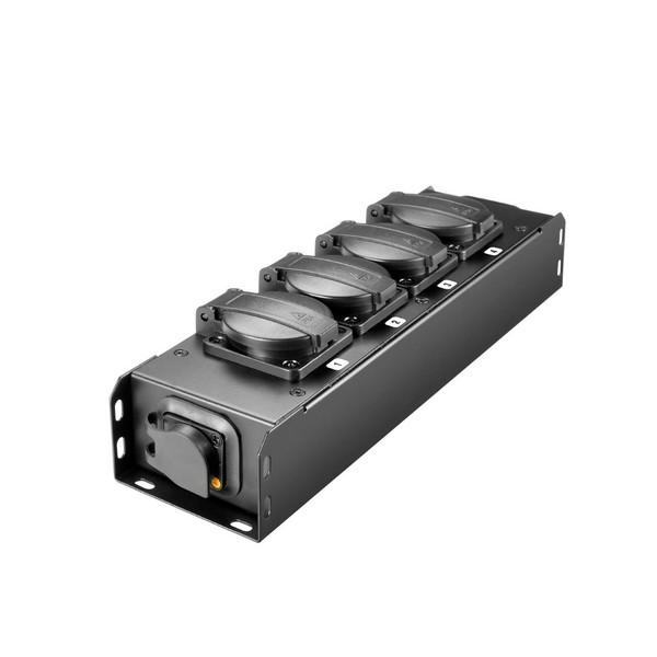 Adam Hall Proport IP54 Rated Power Strip, 4 Black EU Sockets
