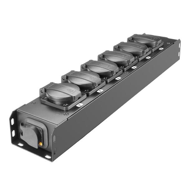 Adam Hall Proport IP54 Rated Power Strip, 6 EU Sockets