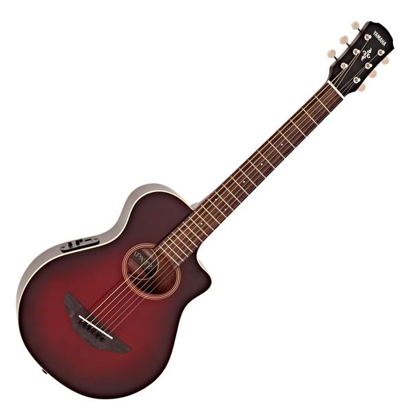 Yamaha APXT2 3/4 Electro Acoustic Guitar, Dark Red Burst main