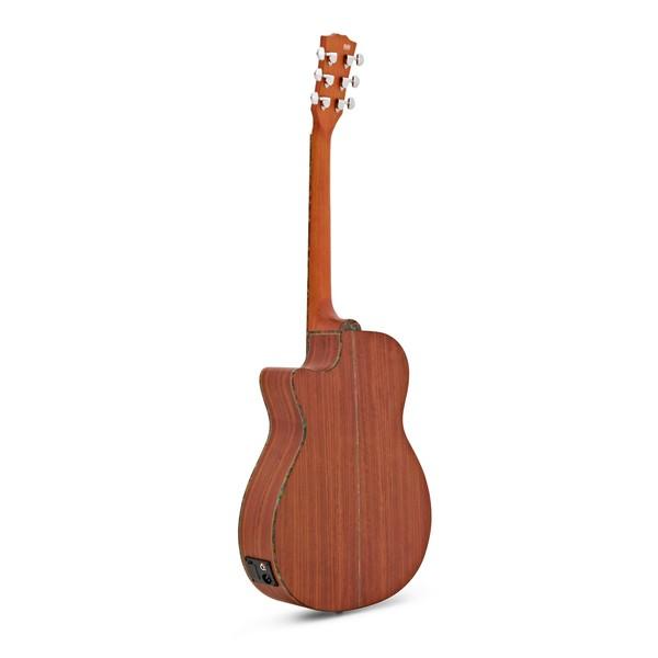 Deluxe Single Cutaway Electro Acoustic Guitar by Gear4music, Padauk back