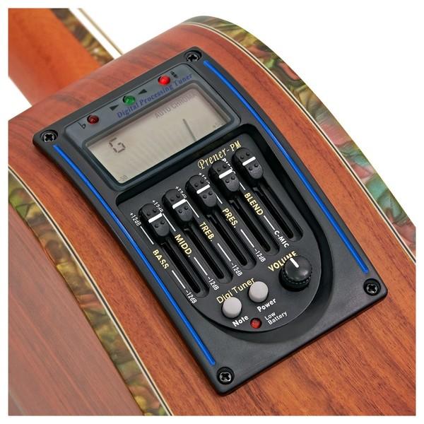Deluxe Single Cutaway Electro Acoustic Guitar by Gear4music, Padauk tuner