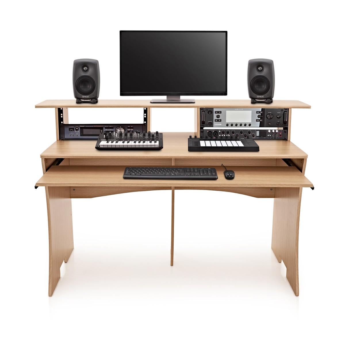 Audio Studio Desk : 3 tier pro audio studio desk by gear4music 8u natural at gear4music ~ Vivirlamusica.com Haus und Dekorationen