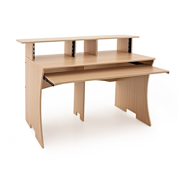 3 Tier Pro Audio Studio Desk by Gear4music, 8U, Wood Effect