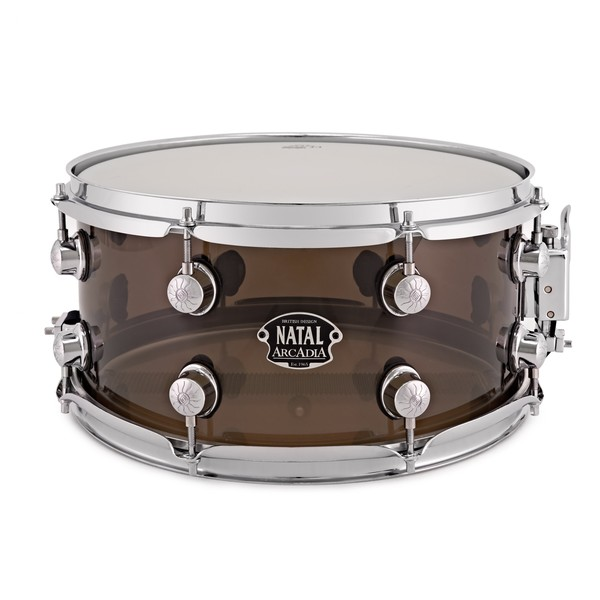 Natal Arcadia 13 x 6.5'' Acrylic Snare Drum, Transparent Grey
