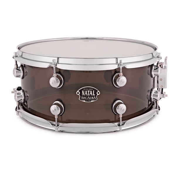 Natal Arcadia 14 x 6.5'' Acrylic Snare Drum, Transparent Grey
