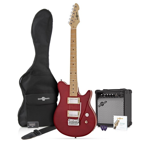 Santa Monica Electric Guitar + Complete Pack, Trans Red