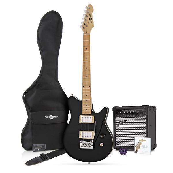 Santa Monica Electric Guitar + Complete Pack, Trans Black