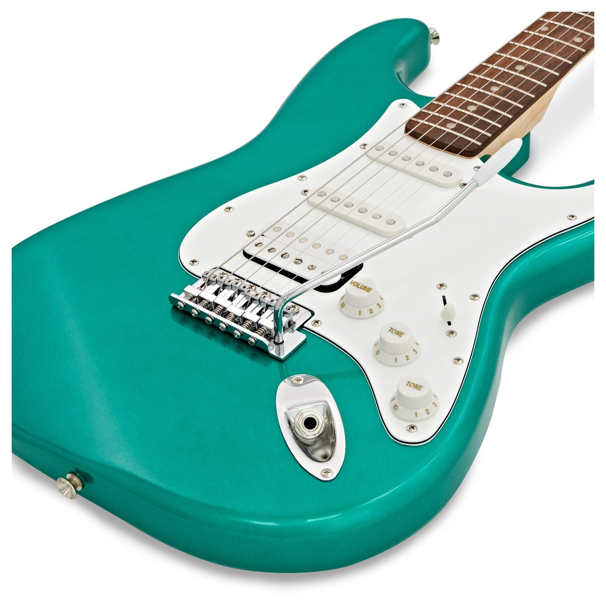 squier affinity stratocaster hss race green at gear4music. Black Bedroom Furniture Sets. Home Design Ideas