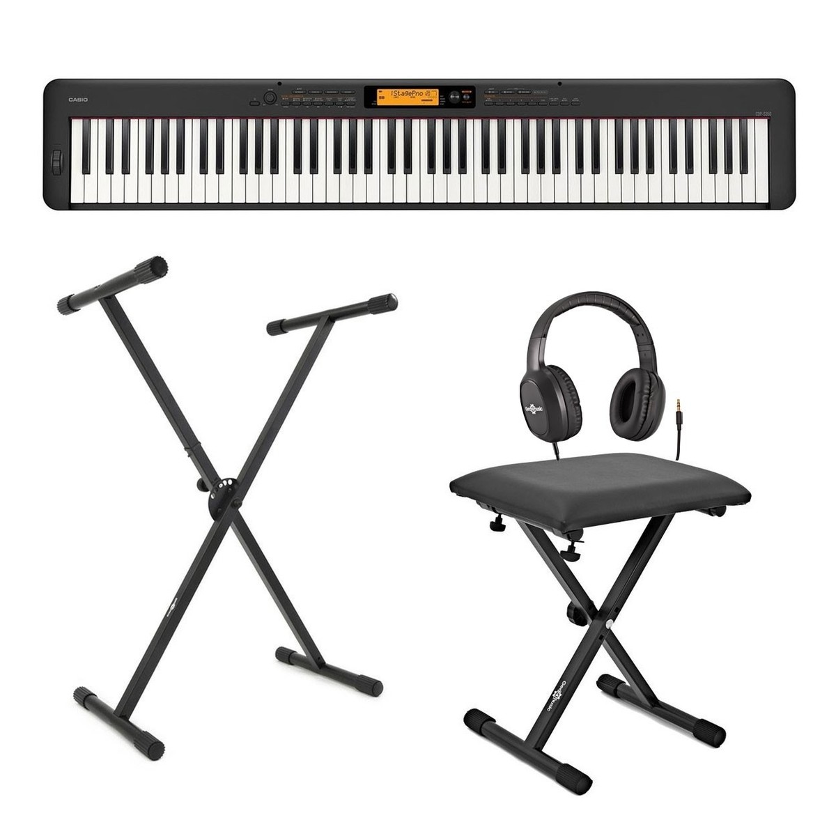 Casio CDP S350 Digital Piano X Frame Package, Black