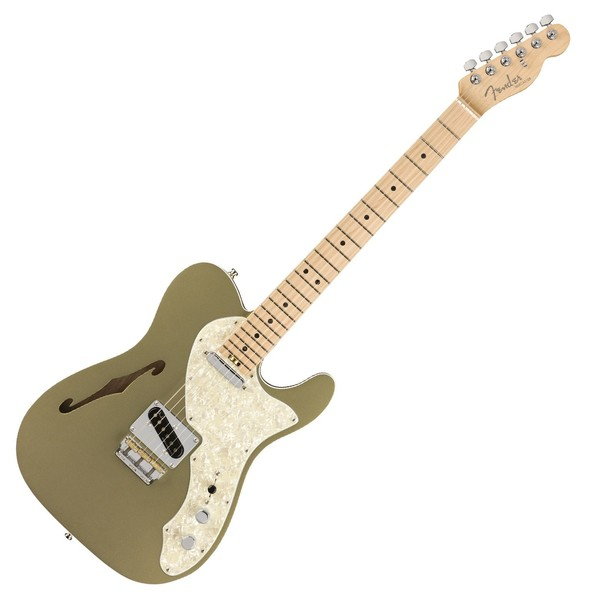 Fender American Elite Telecaster Thinline MN, Jade Pearl Metallic - Main