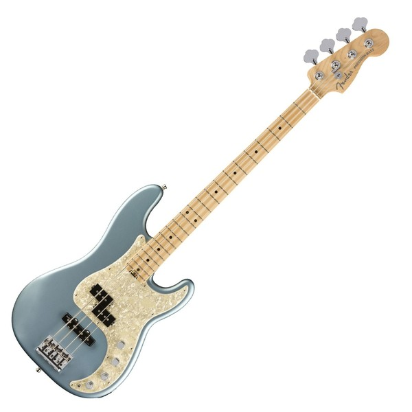 Fender American Elite Precision Bass MN, Satin Ice Blue Metallic - Main