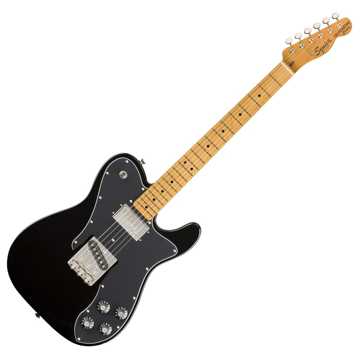 squier classic vibe 70s telecaster custom mn black at gear4music. Black Bedroom Furniture Sets. Home Design Ideas