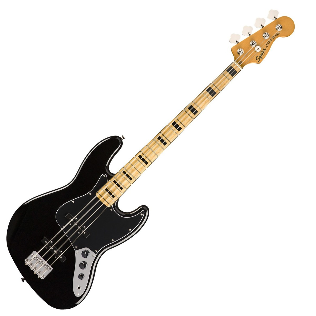 squier classic vibe 70s jazz bass mn  black at gear4music