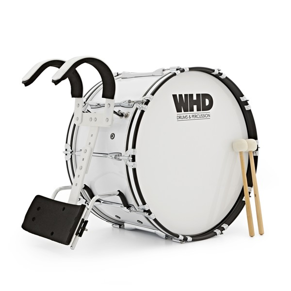 "WHD 24"" x 14"" Professional Marching Bass Drum with Carrier"