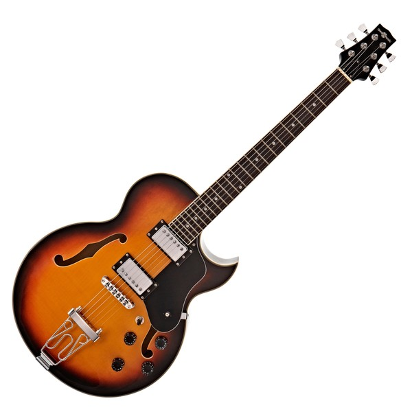 San Diego Semi Acoustic Guitar by Gear4music, Sunburst main