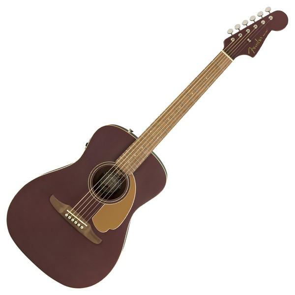 Fender Malibu Player Electro Acoustic, Burgundy Satin Front View